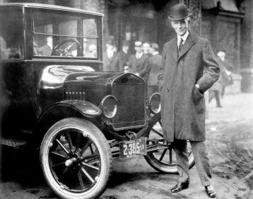 Henry Ford With 1921 Model T